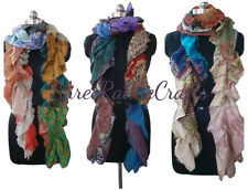 Wholesale Lot Vintage Cotton Sari Recycled Scarves Stoles Patchwork Scarf 5 PCS