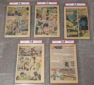 Hulk #181 CPA Graded Pages #'s 14 17 22 23 1st Wolverine Thor #229 Letter Page