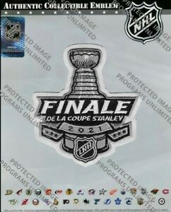 2021 STANLEY CUP FINAL OFFICIAL PATCH FRENCH VERSION NHL CANADIENS VS LIGHTNING