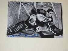 Cincinnati Mohawks EMILE CAT FRANCIS Signed 4x6 Photo NHL AUTOGRAPH