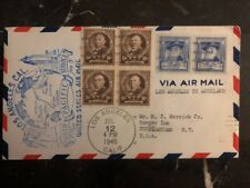 1940 Los Angeles Ca USA First Flight Cover FFC To Auckland New Zealand