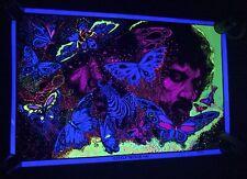 Vtg 80s Little Wings Jimi Hendrix Blacklight 23�x30� Poster Artist Leon Hendrix
