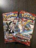 1 POKEMON SUN & MOON CRIMSON INVASION BOOSTER PACK | 1 BOOSTER PACK