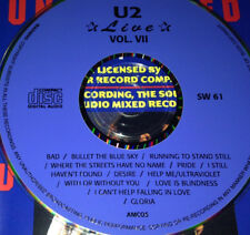 U2 Live Vol. 7 CD Rare Bono I Haven't Found Desire With Or Without You Gloria