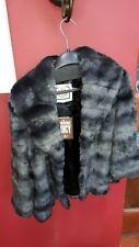 Juicy couture black swan faux fur capelet fake fur jacket