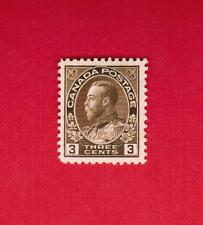 1918 #  108 *  VFH  TIMBRE CANADA  STAMP  GEORGE V ADMIRAL  -  BROWN