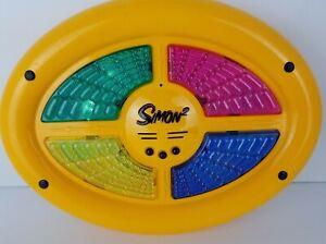 Vintage Simon 2 Electronic Two Sided Handheld Memory Game Milton Bradley Hasbro