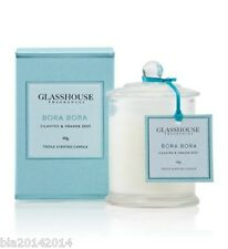 GLASSHOUSE MINI CANDLE 60g -BORA BORA - CILANTRO & ORANGE ZEST - FAST POST