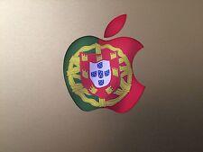 "Portuguese Flag Apple Logo Vinyl Decal Sticker for Apple MacBook 13"" 15"""