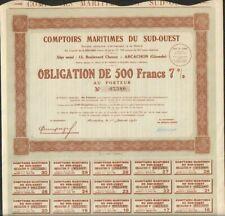 COMPTOIRS MARITIMES DU SUD-OUEST (ARCACHON 33) (E)