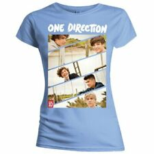 One Direction Ladies Tee: Band Sliced with Skinny Fitting - Blue