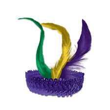 Mardi Gras Mini Metallic Jester Joker Mini Headband Women/'s Costume Accessory