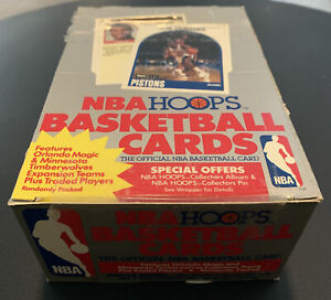 1989-90 NBA HOOPS BASKETBALL 36 PACK VINTAGE WAX BOX *MICHAEL JORDAN PSA 10* HOT