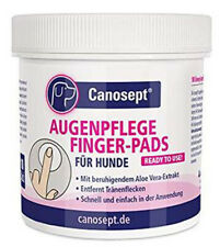 Canosept Augenpflege Pads für Hunde Fingerlinge zur Reinigung 100 St. (0,12€/1E)