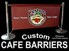 Cafe barriers Cafe Banners Coffee Shops Bars Nightclubs Restaurants Printed