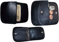 Lot of 3 Women's Soft Leather Wallet, 2 Black Change purse coin wallet Brand New