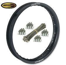 Moose Black Rear Wheel Rim Spoke Set Ktm 125 144 150 250 350 450 Sx 1998-2012
