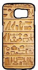 Egyptian Hieroglyphics Papyrus Print Case Rubber/Hard Cover Samsung Galaxy&Note