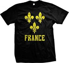 Yellow France Fleur De Lis- French Pride Nationality  Ethnic Mens T-shirt
