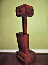 Artes y Artesanías fumadores Art Deco Cenicero de pie, compañero, cepillos de Roble