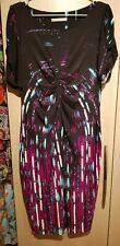 Ladies Marks And Spencer multicoloured/Black Dress Size 16