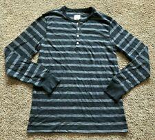 NWT Men's Gray Stripe Long Sleeve Merona Casual Top XL