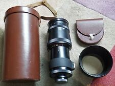 LEATHER CASED CARL ZEISS JENA 300mm f4 SONNAR  PRIME LENS with MOUNT