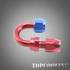 Universal AN8 180 Degree Swivel Fitting Hose End Adapter Red Aluminum