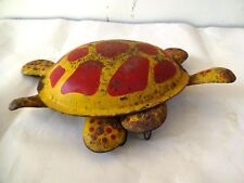 Vintage Tinplate Mobo The Toy-Toise Tortoise Toy 1940S Litho Collectibles Rare ""
