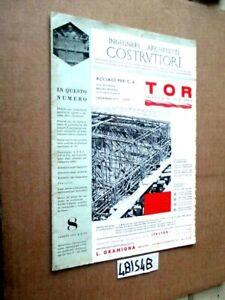 INGEGNERI ARCHITETTI COSTRUTTORI N° 8  agosto 1951    (4BIS4B)