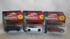 MAJORETTE X3 NEW OUT,ALFA GIULETTA,BMW Z4 ROADSTER,MERCEDES GL. ALL MINT MODELS