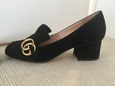 Gucci, Marmont Fringed Black Suede Pumps, 36.5, Worn Twice, $765