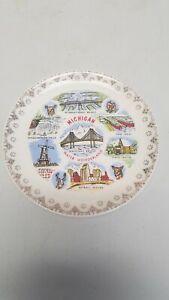 "Michigan 7 1/4"" Water Wonderland Souvenir Plate"