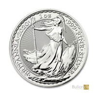 2020 1oz Silver Britannia Ounce Bullion Coin in coin capsule