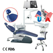 Dental Unit Chair Hard Leather Computer Controlled Motorampstool Handpiece Kit Or