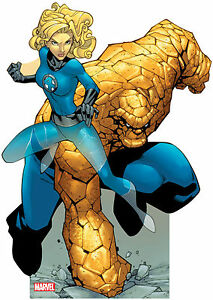 MARVEL - Thing & Invisible Woman Lifesize CARDBOARD CUTOUTstandee standup C1147