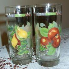 Sakura Sonoma 12 oz Highball Drinking Glasses Tumblers - Set of 2 -Excellent