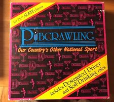 PUBCRAWLING BOARD GAME - PUB CRAWL - COLLEGE FRAT DRINKING SPORT