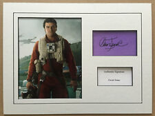 OSCAR ISAAC AUTHENTIC STAR WARS SIGNED 16X12 MOUNTED DISPLAY AFTAL UACC [12800]