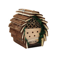 Hanging Wooden Insect & Bee Hotel Shelter Garden Nest Box