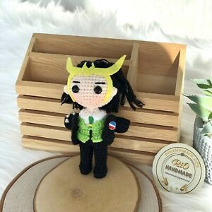 Crochet Loki-Handmade wool cotton crochet, amigurumi-Loki Marvel Avengers