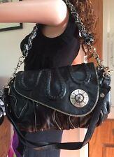 Mimco 💼 New Very Rare & Sexy Black Leather Handbag Bag 36x24 Cm