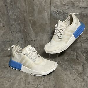 Adidas NMD R1 White Real Blue EE6677 Women's Size 6.