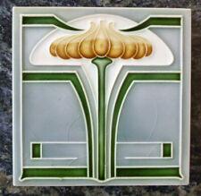 Jugendstil Fliese art nouveau tile Tegel NSTG Blüten Lampe chic schön top rar