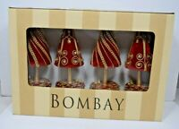 Bombay - Red Top Tree S/4 Placecard Holder #1120798 (4 pack) Christmas/Holiday