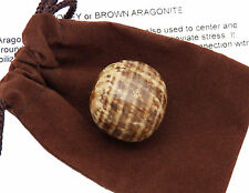 Brown Honey ARAGONITE tumbled stone Gemstone with pouch Extra Large 15.1-22 g