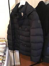 Para Hombre Moncler Loirac hacia abajo abrigo chaqueta de doble de tamaño 4, Azul Marino