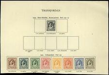 Transjordan 1942 MH Album Page Of Stamps #V13656