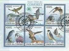 Timbres Oiseaux Rapaces Comores 1716/20 o année 2009 lot 20446 - cote : 16 €