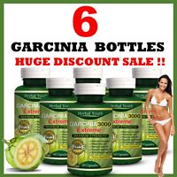 6 x BOTTLES 3000mg Daily ❤ GARCINIA CAMBOGIA Capsules Super Weight Loss Diet